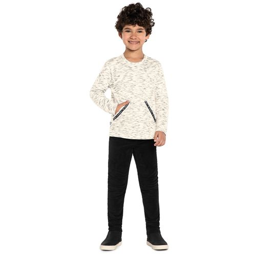 Camiseta-Infantil-Meia-Malha-Rajada-Trick-Nick-Bege