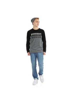 Camiseta-Meia-Malha-Masculina-Rovitex-Teen-Preto