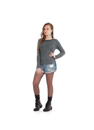 Blusa-Viscotorcion-Feminina-Rovitex-Teen-Cinza