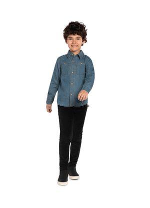 Camisa-Infantil-Manga-Longa-Jeans-Trick-Nick-Cinza