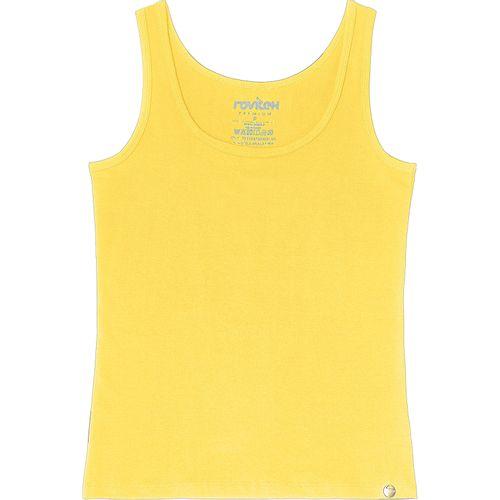 Regata-Cotton-Feminina-Rovitex-Basicos-Amarelo