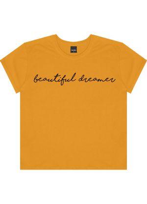 T-shirt-com-Estampa-Feminina-Rovitex-Amarelo