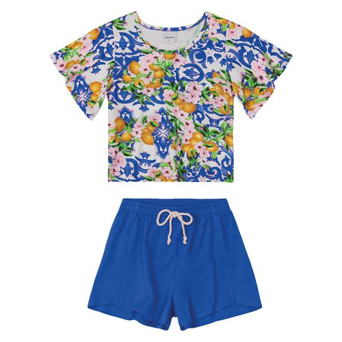 Conjunto-Blusa-Com-Shorts-Rovitex-Kids-Feminino-Azul