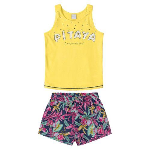 Conjunto-Regata-com-Shorts-Rovitex-Kids-Feminino-Amarelo