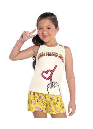 Conjunto-Regata-com-Shorts-Rovitex-Kids-Feminino-Bege