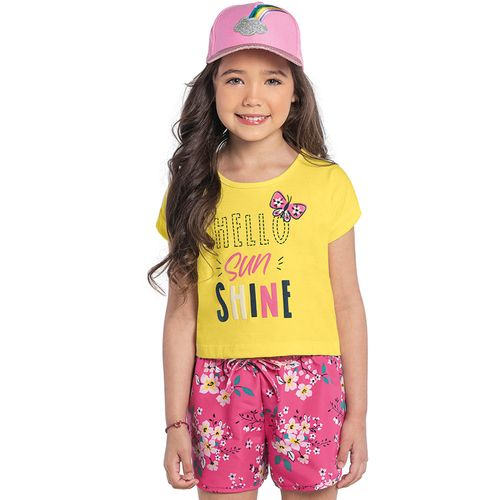 Conjunto-Blusa-com-Shorts-Rovitex-Kids-Feminino-Amarelo