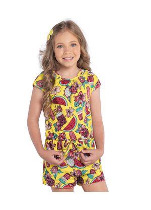 Macaquinho-Rovitex-Kids-Feminino-Amarelo