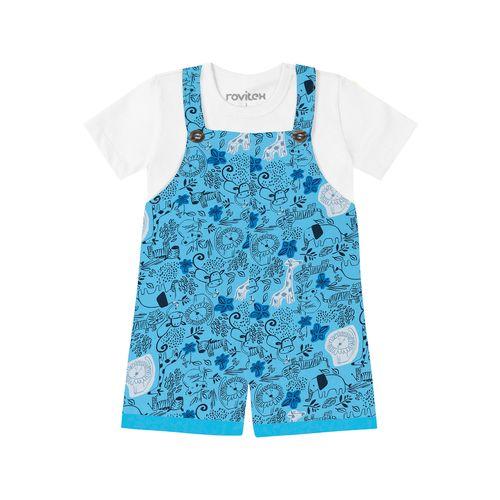 Conjunto-Camiseta-com-Jardineira-Rovitex-Kids-Branco