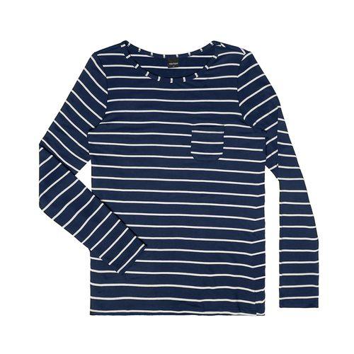 Blusa-Feminina-Basica-com-Bolso-Rovitex-Azul