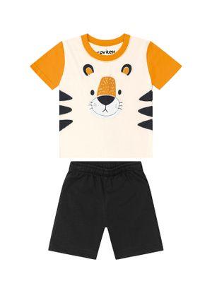 Conjunto-Camiseta-com-Bermuda-Rovitex-Kids-Bege