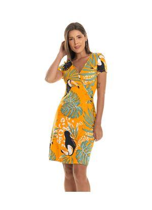 Vestido-Estampado-Feminino-Rovitex-Amarelo