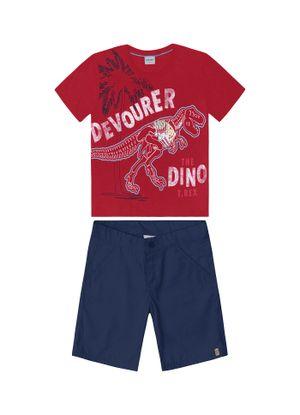 Conjunto-Camiseta-Com-Bermuda-Vermelho