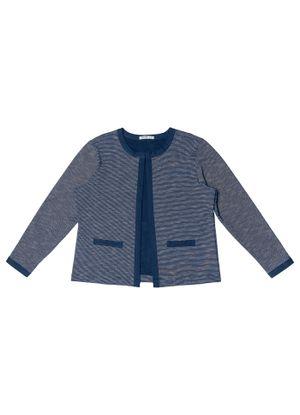 Casaco-Feminino-Tweed-Secret-Glam-Azul