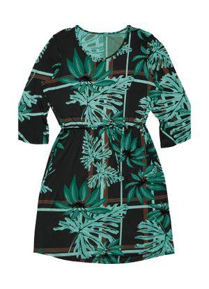 Vestido-Estampado-Feminino-Rovitex-Plus-Preto
