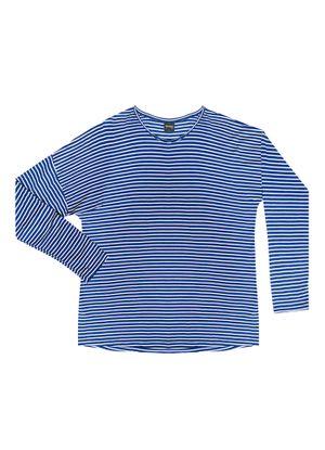 Blusa-Feminina-Basica-Listras-Rovitex-Plus-Azul