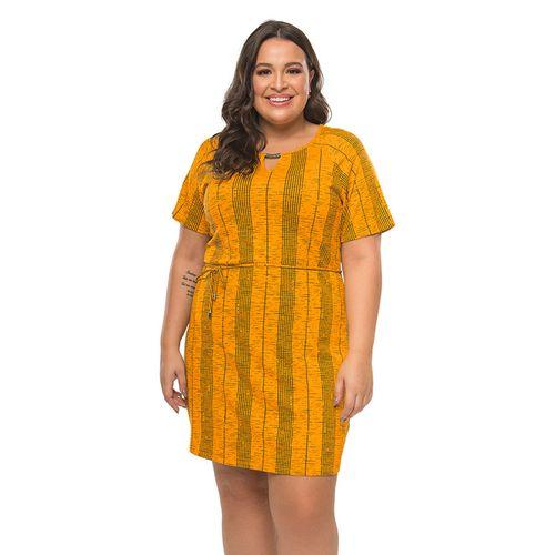 Vestido-Estampado-Feminino-Rovitex-Plus-Amarelo