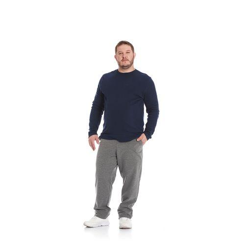 Camiseta-Masculina-Manga-Longa-Suedine-Rovitex-Plu-Azul