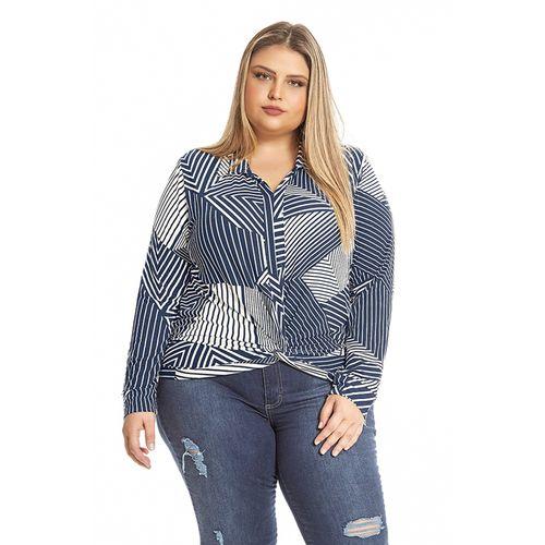 Camisa-Feminina-Estampa-Geometrica-Rovitex-Plus-Azul