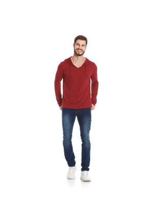 Camiseta-Masculina-Basica-Trico-Capuz-Rovitex-Plus-Vermelho