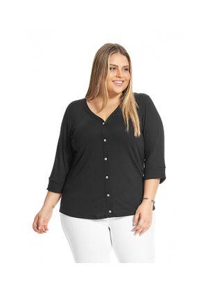 Camisa-Feminina-Manga-7-8-Rovitex-Plus-Preto