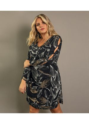 Vestido-Feminino-Floral-Secret-Glam-Preto