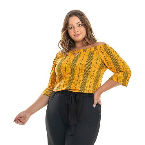 Blusa-Ciganinha-Feminina-Rovitex-Plus-Amarelo