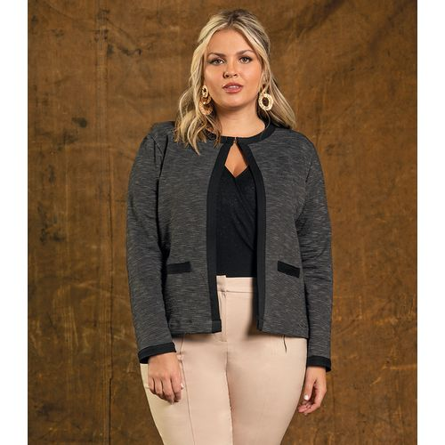 Casaco-Feminino-Tweed-Secret-Glam-Preto