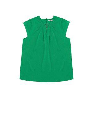 Blusa-Feminina-Manga-Curta-Secret-Glam-Verde