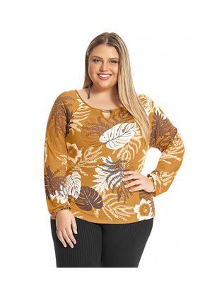 Blusa-Feminina-Estampada-Rovitex-Plus-Amarelo