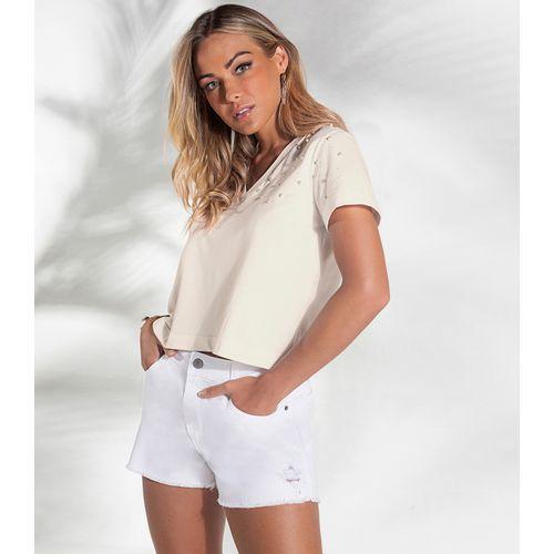 Shorts-Jeans-Feminino-Endless-Branco