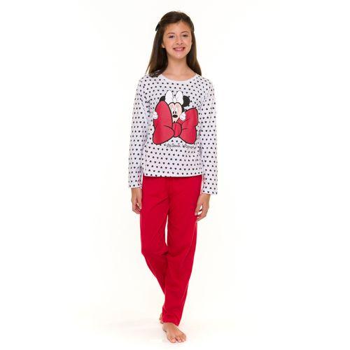 Pijama-Juvenil-Feminino-Minnie-Disney-Branco
