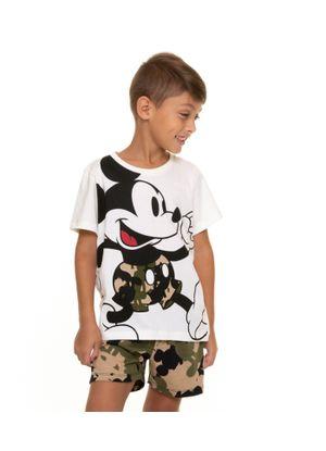 Pijama-Infantil-Masculino-Camuflagem-Mickey-Disney-Bege