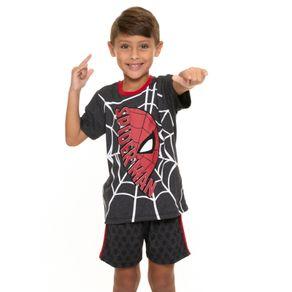 Pijama-Infantil-Masculino-Homem-Aranha-Cinza