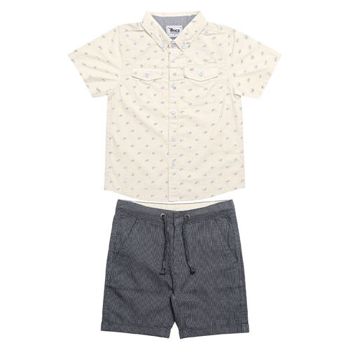 Conjunto-Infantil-Camisa-com-Bermuda-Trick-Nick-Bege