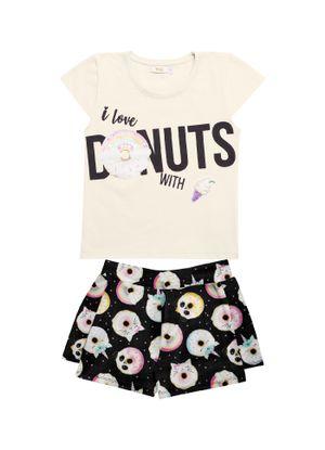 Conjunto-Blusa-com-Shorts-Infantil-Trick-Nick-Bege