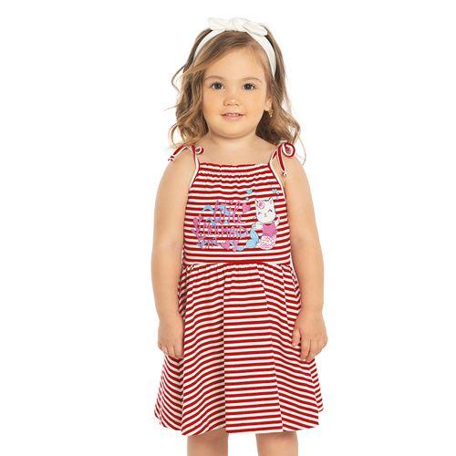 Vestido-Listrado-Sereia-Rovitex-Kids-Vermelho