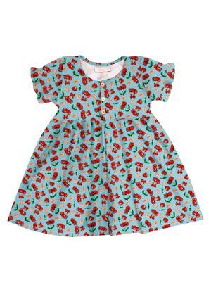 Vestido-Infantil-Estampado-Trick-Nick-Azul