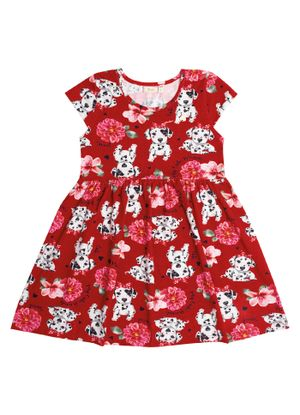 Vestido-Infantil-Estampado-Trick-Nick-Vermelho