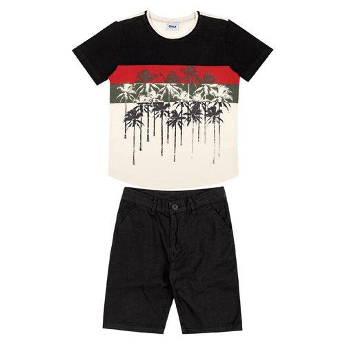 Conjunto-Camiseta-Bermuda-Infantil-Trick-Nick-Preto