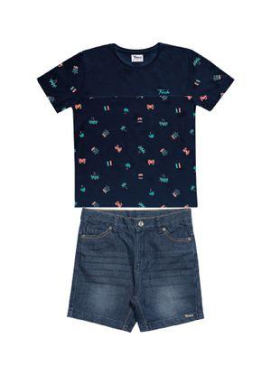 Conjunto-Camiseta-Bermuda-Infantil-Trick-Nick-Azul