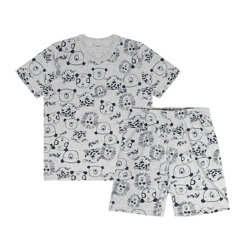 Pijama-Infantil-Masculino-Bichinhos-Rovitex-Kids-Cinza
