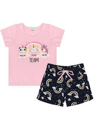 Pijama-Infantil-Feminino-Team-Cute-Rovitex-Kids-Rosa