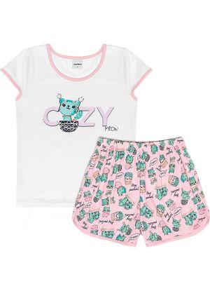 Pijama-Infantil-Feminino-Cozy-Rovitex-Kids-Branco
