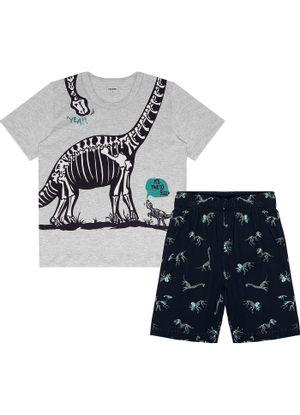 Pijama-Infantil-Masculino-Dino-Rovitex-Kids-Cinza