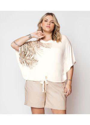 Blusa-Feminina-Plus-Size-Secret-Glam-Bege