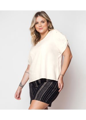Blusa-Feminina-Plus-Size-Secret-Glam-Bege