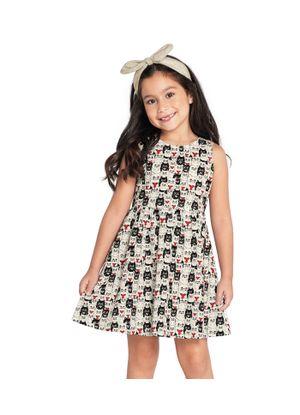Vestido-Feminino-Rovitex-Kids-Bege