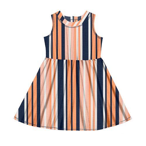 Vestido-Tricoline-Feminino-Rovitex-Kids-Azul