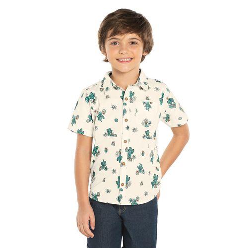 Camisa-Infantil-Rovitex-Kids-Bege