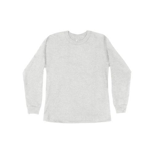 Camiseta-Infantil-Unissex-Meia-Malha-Rovitex-Kids-Cinza